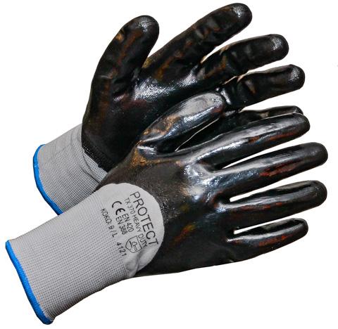 TX 370 HEAVY DUTY, nitriili/nylon sormikas vuoriton